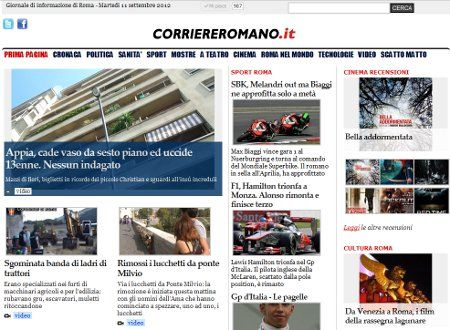 AssolutoCMS per www.corriereromano.it